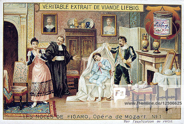 Scene from Mozarts opera The Marriage of Figaro  1786 (1905). Artist: Anon