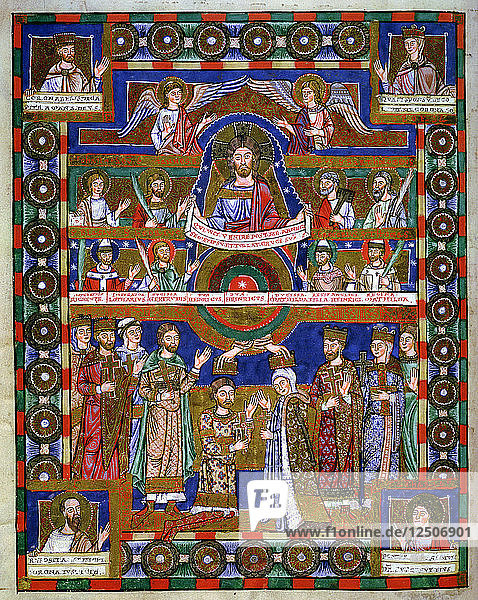 Coronation of Henry the Lion  Duke of Saxony  and his wife Matilda. Artist: Unknown