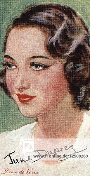 June Duprez  (1918-1984)  British film actress  20th century. Artist: Unknown