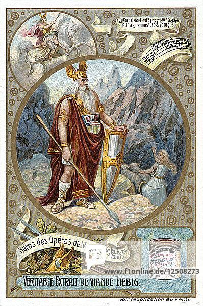 Odin  1890-1910. Artist: Delitz