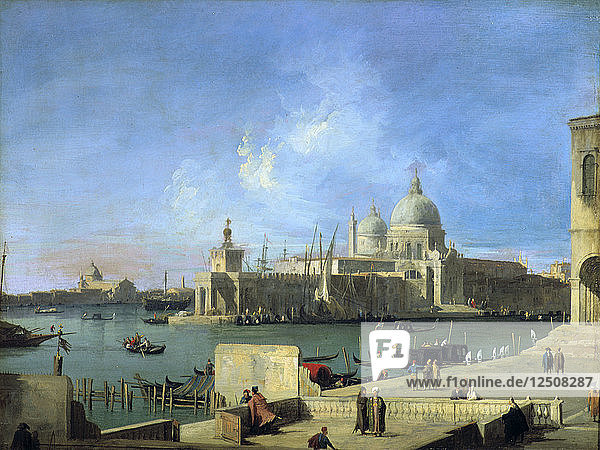 View of the Salute from the Entrance of the Grand Canal  Venice  c1727-1728. Artist: Canaletto