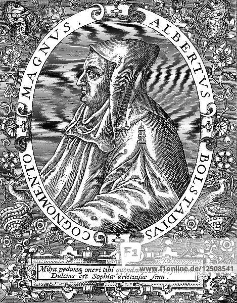 Albertus Magnus (c1200-1280) German-born Dominican friar  late 16th century. Artist: Unknown
