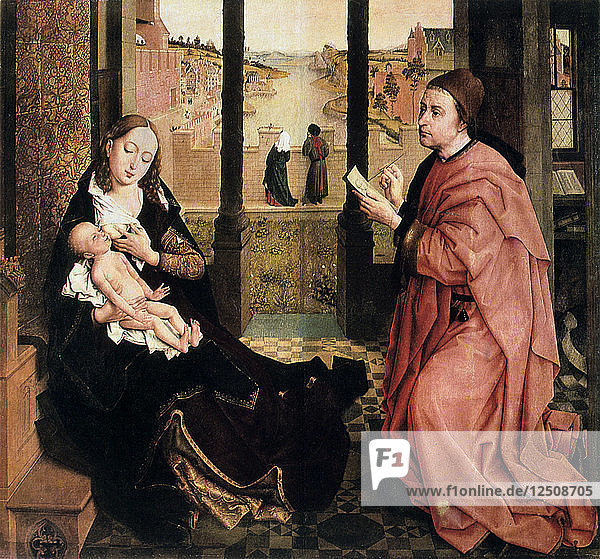 St Luke Drawing the Virgin  15th century. Artist: Rogier Van der Weyden