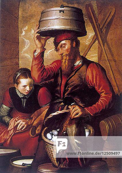 The Game Dealer  16th century. Artist: Pieter Aertsen