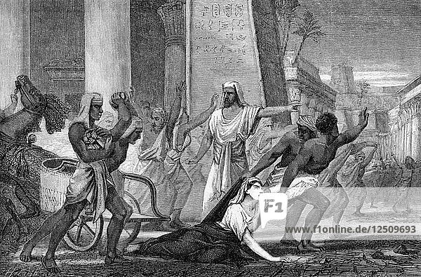 The murder of Hypatia  neo-Platonic mathematician and philosopher  415 (mid 19th century). Artist: Unknown