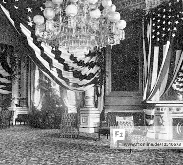 East room of the White House  Washington  c1901. Artist: Unknown