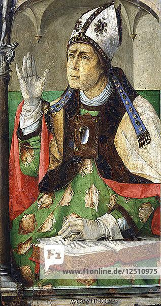 St Augustine of Hippo  1460. Artist: Joos van Gent