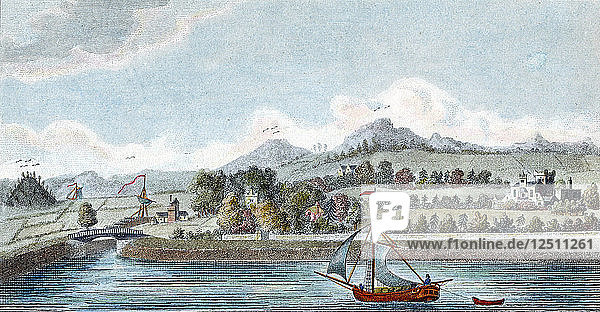 Basin of the Caledonian Ship Canal at Muirtown near Inverness  Scotland  1822. Artist: Unknown