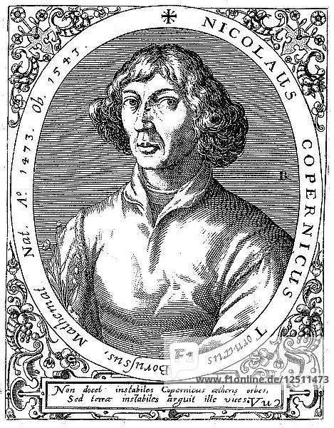 Nicolas Copernicus  Polish astronomer  1645 Artist: A de Bry