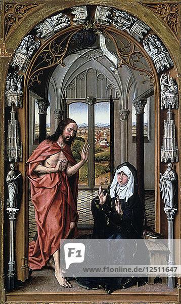 Christ Appearing to His Mother  c1440. Artist: Rogier Van der Weyden