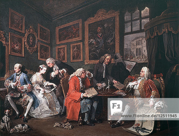 Marriage a la Mode: 1  The Marriage Contract  1743. Artist: William Hogarth