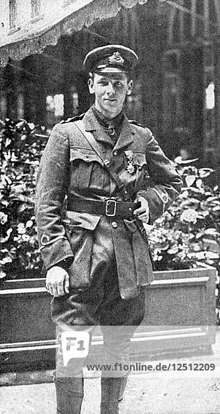Flight-Lieutenant Rex Warneford VC  British pilot  1915. Artist: Unknown