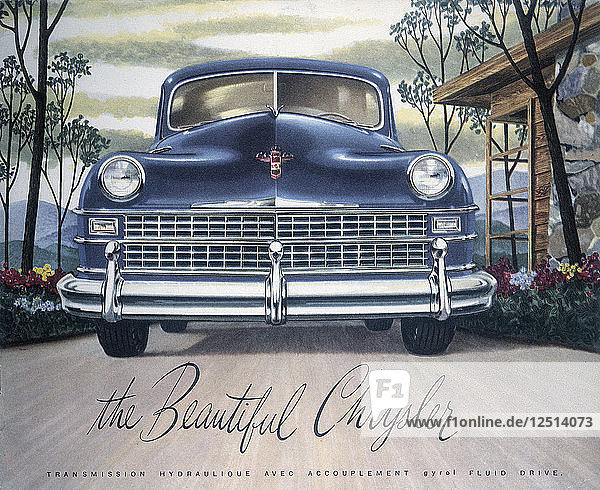 Poster advertising a Chrysler  1946. Artist: Unknown