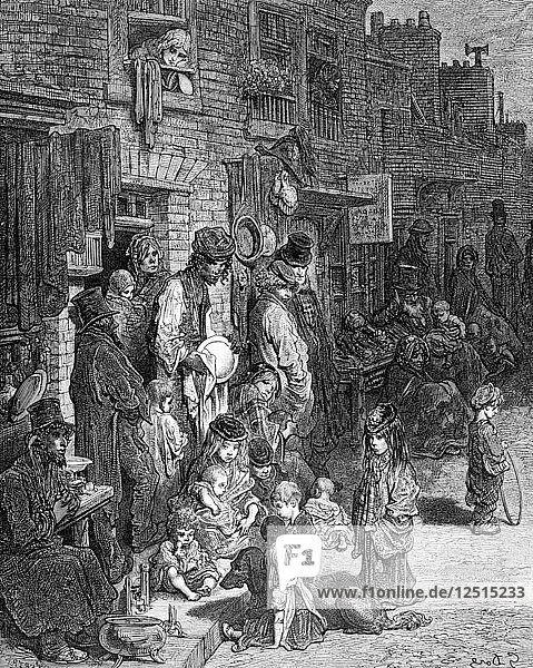 Wentworth Street  Whitechapel  1872. Artist: A Bertrand
