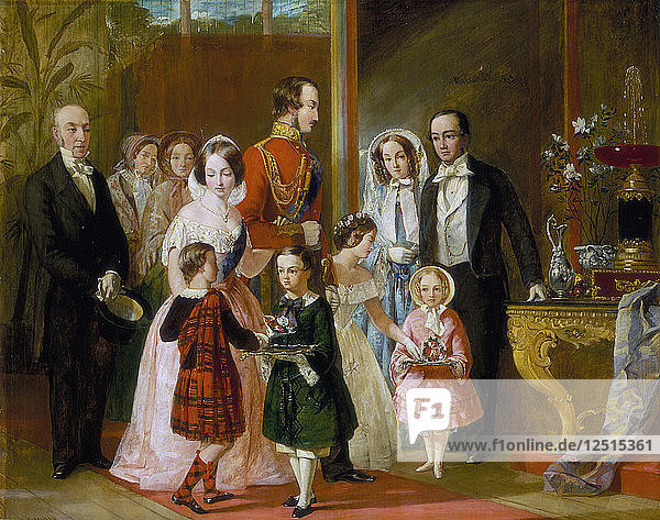 Thomas Younghusband and his Family Meet Queen Victoria and her Family at Crystal Palace  c1854. Artist: C Wells