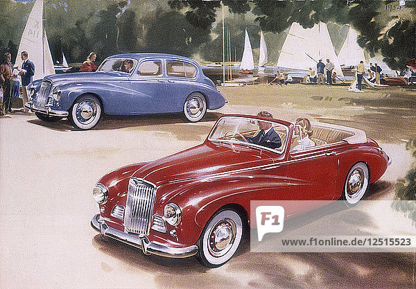 Poster advertising a Sunbeam-Talbot 90  1954. Artist: Unknown