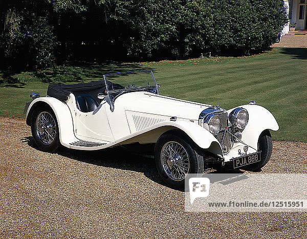 1937 Jaguar SS100. Artist: Unknown