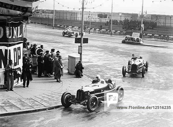 Brian Lewis in an Alfa Romeo Monza in the Mannin Moar race  Douglas  Isle of Man  1933. Artist: Unknown