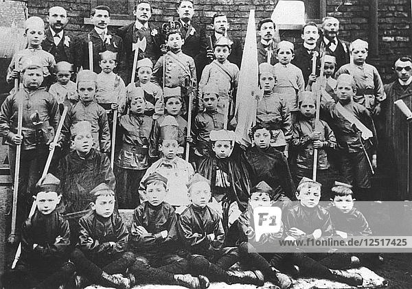 Boys in fancy dress for Purim  before 1914. Artist: Unknown