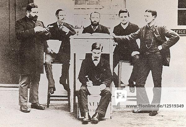 Office staff of Caley  Norwich  Norfolk  1885. Artist: Unknown