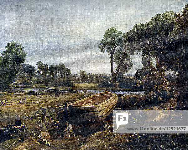 Boat Building Near Flatford Mill  1815  (1912).Artist: John Constable
