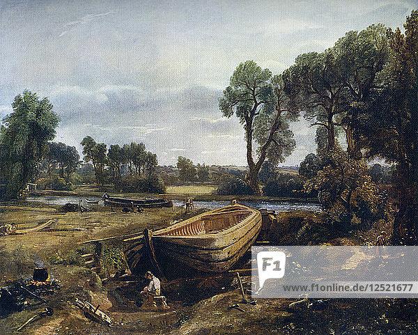 Boat Building Near Flatford Mill,  1815,  (1912).Artist: John Constable