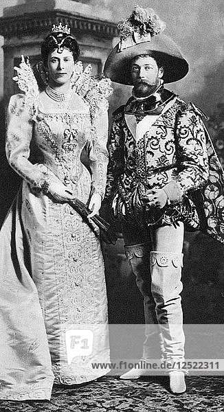 Prince George and Mary of Teck in fancy dress  Devonshire House Ball  1897. Artist: Unknown