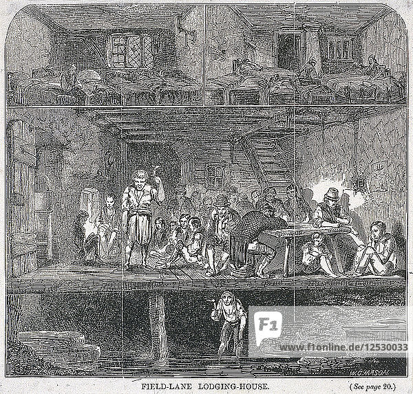 Field Lane Lodging House  London  1847. Artist: WG Mason