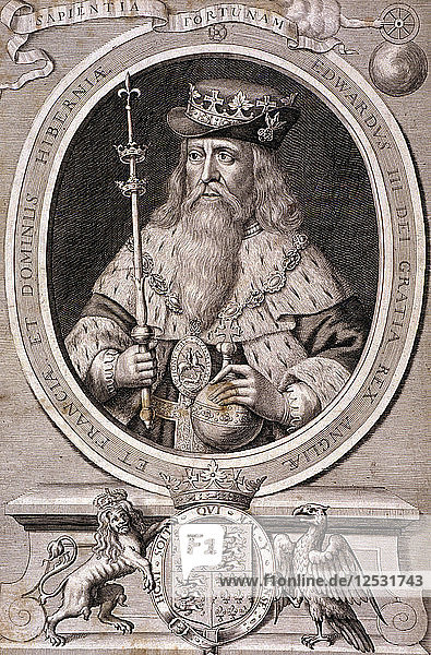 Edward III  King of England  c1370  (c1700). Artist: Anon