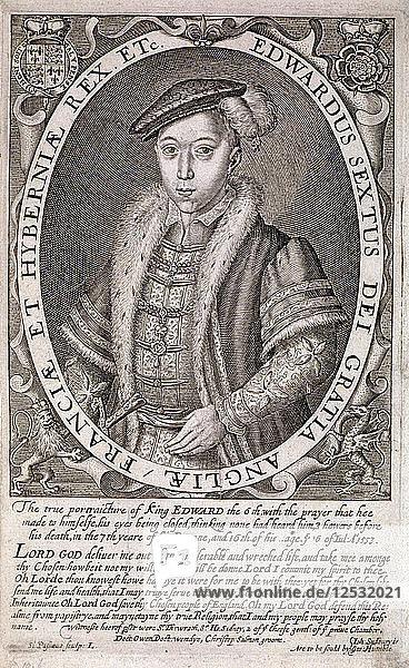 Edward VI  King of England  c1552  (c1630). Artist: S Passaeus