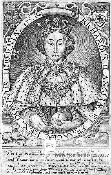 Richard II  King of England. Artist: Unknown