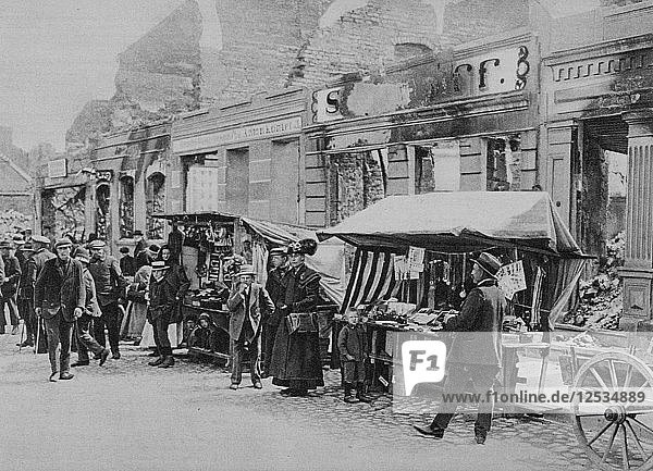 The market in the ruins of Hohenstein  East Prussia  World War I  1915. Artist: Unknown