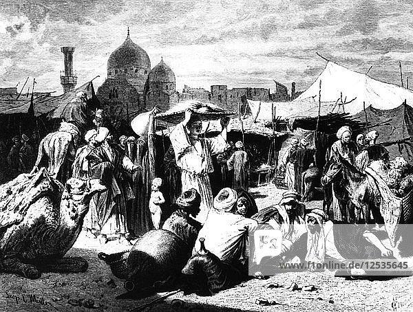 Market at Dessouk  Egypt  1880. Artist: Unknown