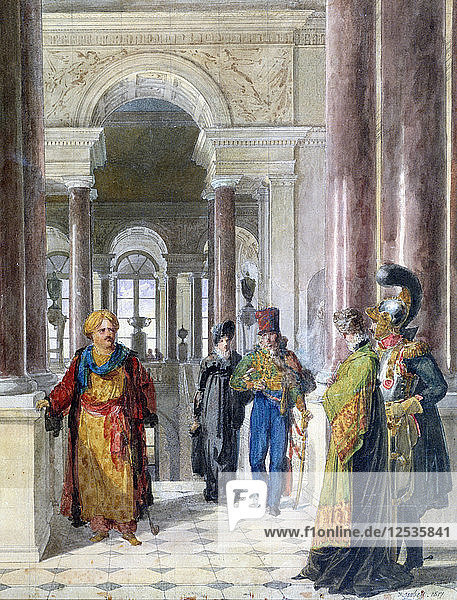 Exploring the Museum  1817. Artist: Jean-Baptiste Isabey