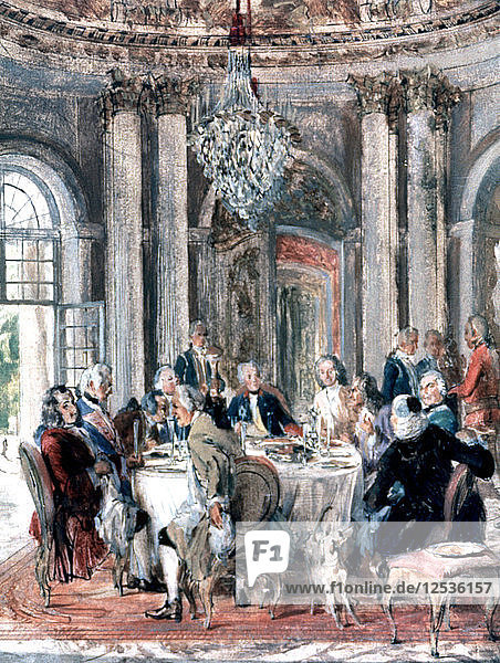 Reunion at the Mansion  1849. Artist: Adolph Menzel