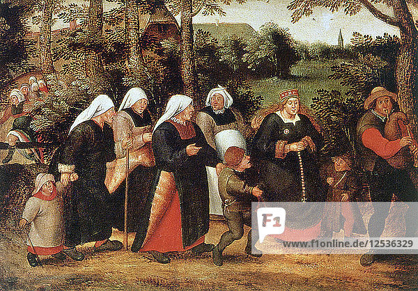 The Procession of the Bride  c1584-1638. Artist: Pieter Brueghel the Younger