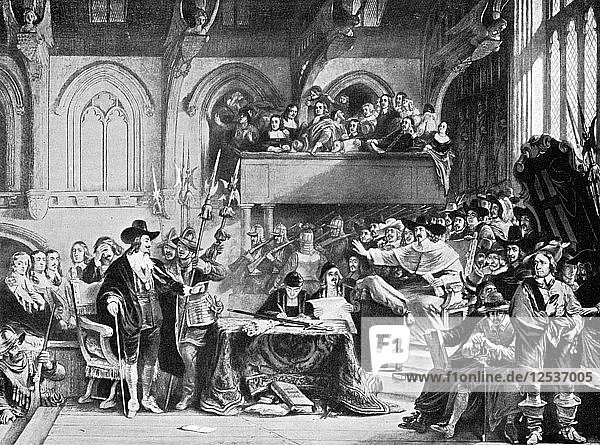 The famous trial of Charles I in Westminster Hall in January  1649 (c1905). Artist: Unknown