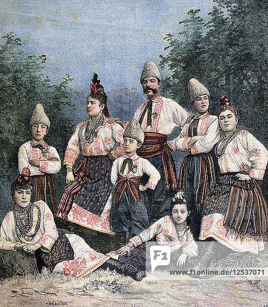 Russian singers  1891. Artist: Henri Meyer