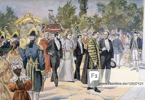 The Lord Mayor of London visiting Bordeaux  France  1895. Artist: F Meaulle