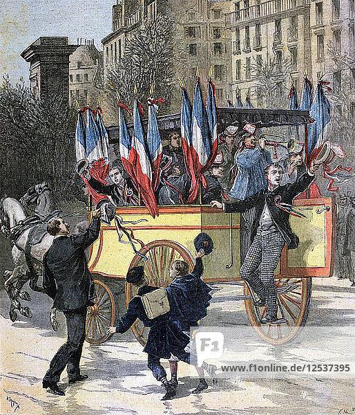 The Conscripts of 1892  (1892). Artist: Henri Meyer