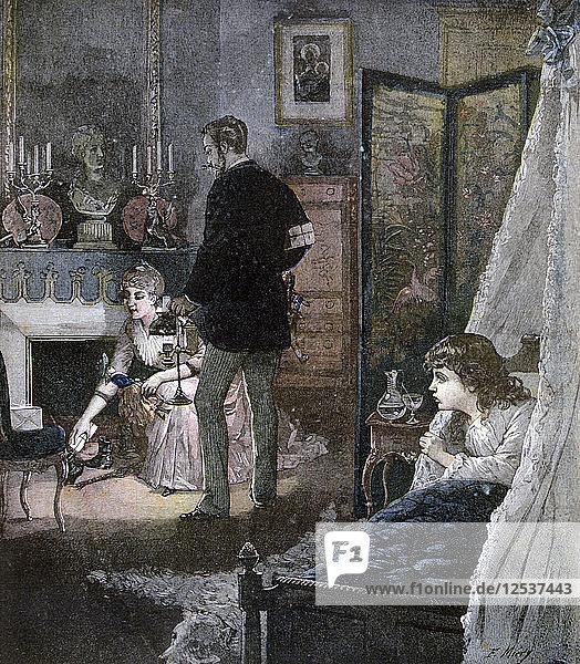 Christmas Shoes  1891. Artist: Miery