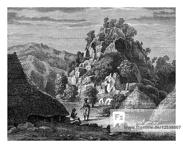Landscape of the Island of Timor  19th century.Artist: Frederic Sorrieu