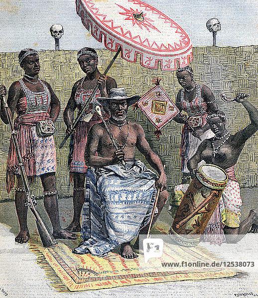 Behanzin  King of Dahomey  1892. Artist: Henri Meyer