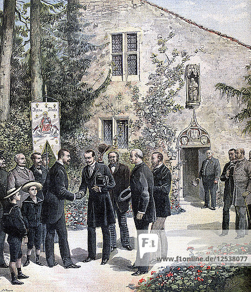 The Grand Duke Constantine of Russia visiting the house of Joan of Arc  Domremy  1892. Artist: Henri Meyer