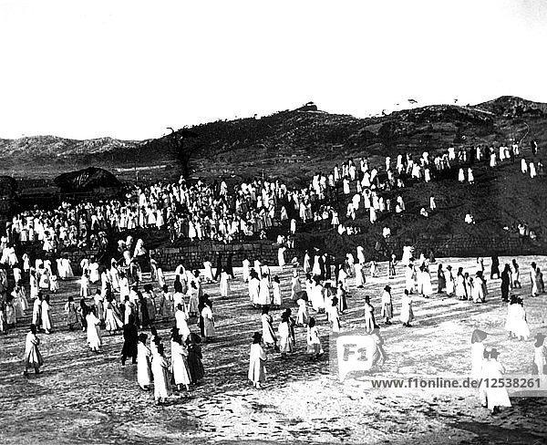 Outdoor gathering  Korea  1900. Artist: Unknown