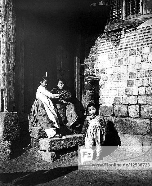 Korean children  Korea  1900. Artist: Unknown