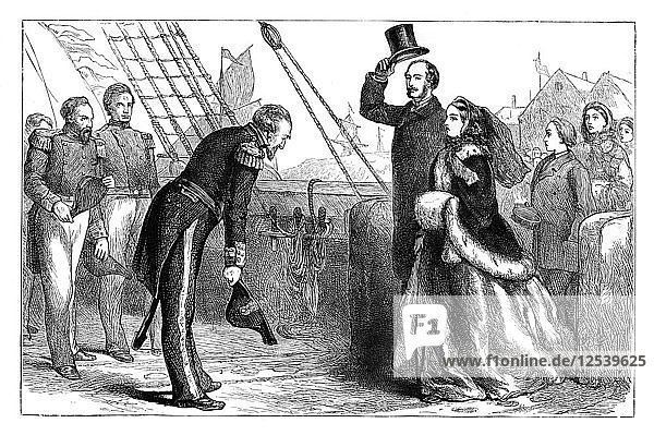 Visit of the Queen and Prince Albert to the Resolute  1856  (c1888). Artist: Unknown