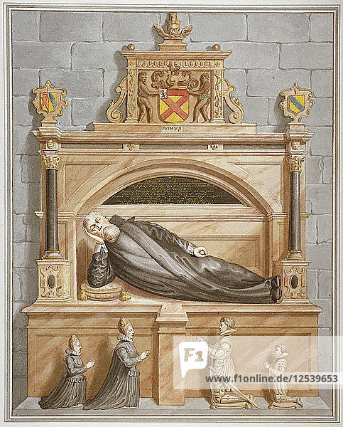 Monument to Sir Edward Bruce in Rolls Chapel  Chancery Lane  City of London  1794. Artist: Anon
