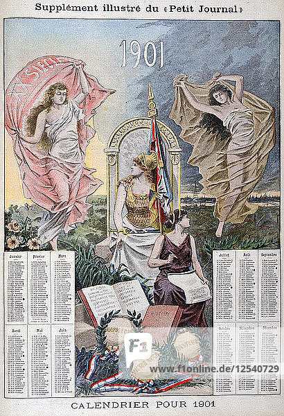 Calendar for 1901. Artist: Unknown