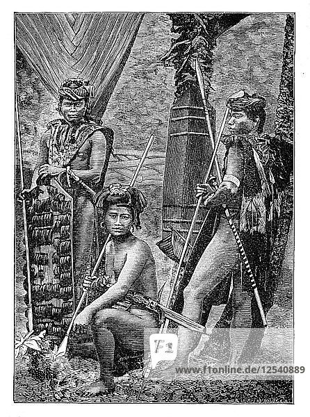A group of Dyaks  c1900. Artist: Unknown